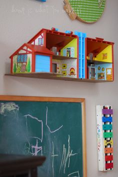 {collecting} vintage playroom | home is what you make it Vintage playhouse on the wall