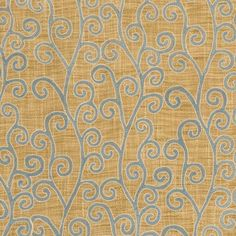 "Crawford Aqua Sand 3255202 by Fabricut Fabric Inspirations IV Landscape 100% Polyester, 100% Viscose, Embroidery India - H: 7.7"", V: 7.7"" 52 inches - Fabric Carolina - Fabricut"