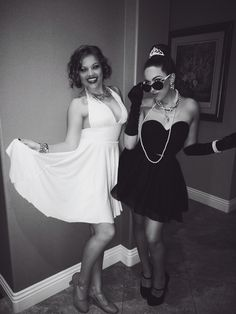 Marilyn Monroe and Audrey Hepburn Halloween Costume for Bestfriends