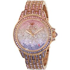 Juicy Couture Stella Analog Display Quartz Multi-Color Watch ($326) ❤ liked on Polyvore featuring jewelry, watches, accessories, relogio, relojes, analog watches, quartz watches, colorful jewelry, colorful watches and juicy couture jewelry