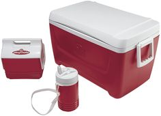 Igloo Island Breeze Cooler with Playmate Mini and Legend (Diablo Red, 48-Quart) * Check out this great product. (This is an affiliate link)