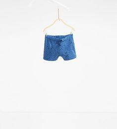 Image 1 of Dog print Bermuda shorts from Zara