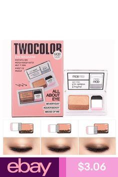 Icycheer Makeup Magazine Lazy Eyeshadow Stamp Holiday Edition Eye Shadow Double Color Shimmer Palette Long Lasting Natual Nude Beauty Essentials Beauty & Health