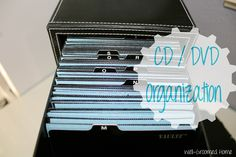 well groomed home: How to Organize DVD's / CD's with Washi Tape