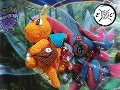 Handmade CrochetKnit Pokemon Magic Karp Dice Bag