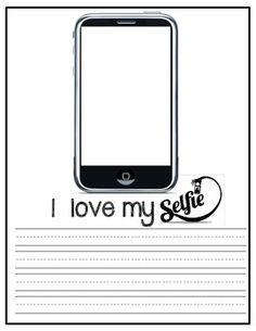 """Bulletin board activity or class book. Great for Valentine's Day or Open House. It can be left on display for an extended period of time! There are 6 different writing paper options allowing for DIFFERENTIATION. Each page reads 'WHAT I LOVE ABOUT MY-SELFIE"""" . Students write what they love about themselves! Students can either draw a picture of themselves in the phone template or students can take a """"selfie"""" and the picture can be printed and glued into the template!"""