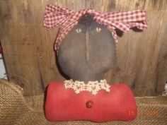 Primitive Grungy Black Mammy Doll Bust Sitter Handmade Gift #NaivePrimitive #handmade