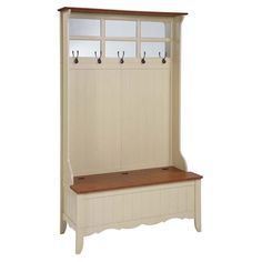 My next house needs one of these! Powell French Country Hall Tree with Storage Bench, Maple/Linen by Powell Furniture Storage Bench With Baskets, Hall Tree With Storage, Hall Tree Bench, Storage Bench Seating, Hall Trees, Hall Furniture, Country Furniture, Find Furniture, Powell Furniture
