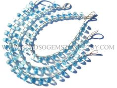 Christmas In July AAA Quality Sky Blue Topaz Faceted Drops #christmasinjuly #bluetopazbeads
