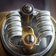 Big ole Fraple Aliens from yesterday installed on a Phenotype-L from @anarchistmfg and @ariabuilt. #coilporn #framedstaplecoil #aliencoil #wireporn #coilsmith #coilarchitect #nichrome80