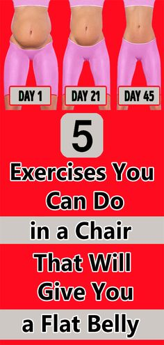 5 Exercises You Can Do in a Chair That Will Give You a Flat Belly – Health Fitness Lower Belly Workout, Hip Workout, Barre Workouts, Workout Exercises, Wellness Fitness, Health And Fitness Tips, Health Tips, Physical Fitness, Health Benefits