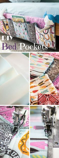 Check out the tutorial: #DIY Bed Pockets #crafts #homedecor