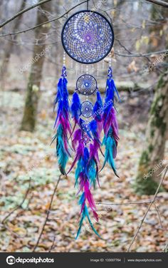 Dreamcatcher made of feathers leather beads and ropes, hanging Dreamcatcher Wallpaper, Crochet Dreamcatcher, Dream Catcher Decor, Dream Catcher Mobile, Clay Pot Crafts, Shell Crafts, Dream Catcher Wallpaper Iphone, Dream Catcher Drawing, Dream Catcher Tutorial