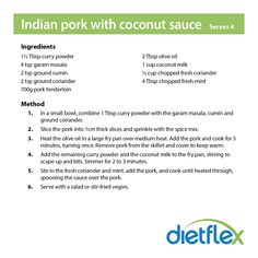 Indian pork with coconut sauce #dietflex #healthyrecipes