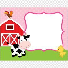 Farm Animals Thank You Card Girl (Pink) - Barnyard | Zazzle.com