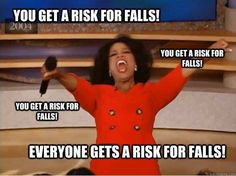 FAll risk - the yellow triangle