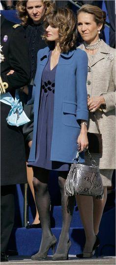 Letizia, Princesa de Asturias junto a sus cuñadas la  Infanta Elena, Duquesa de Lugo y la Infanta Cristina, duquesa de Palma de Mallorca.