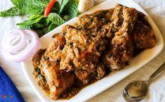 Pudina Chicken / Mint flavoured Chicken Curry
