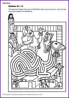 Fun Kids church activity - Wise Men Maze Help the wise men through the camel maze to find Jesus.