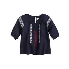 A tunic in gauzey embroidered cotton lends a little bohemian flare to beach (or playground) bound babes.