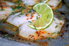 Tilapia with Spicy Lime Butter | Sweet Caroline's Corner