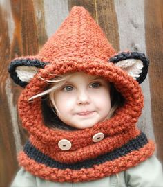 We have a fox hooded cowl crochet pattern free for you to try. You'll also love the video tutorial . Check out the Knitted Fox Cowl too.