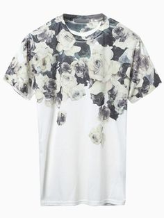 White Floral Crew-neck T-shirt by Choies. Buy for $30 from Choies