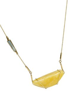 GEOAmber Collection _Necklace Celebrity Style Authentic Polish Amber. 14K Gold. Madagascar quartz