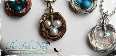 Handmade Bird's Nest Birthstone Necklace-4 Colors & up to 8 Eggs! at VeryJane.com