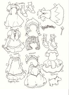 Heidi Fairy Tale Style paper doll by Melissa Smith (2 of 4) | Miss Missy Paper Dolls