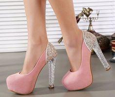 Crystal Heel Shoes