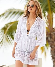 Dotti Hooded Tunic Cover Up - Swimwear - Women - Macy's