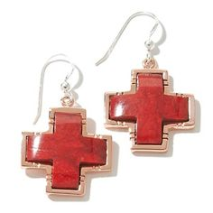 ay King Red Coral Copper Cross Drop Earrings   HSN Price:$64.90   Appraised Value: $124.00