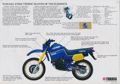 #Yamaha #Tenere #Brochure 1986