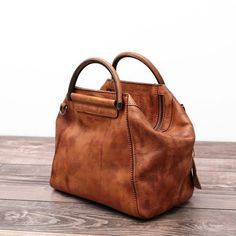 Women's Fashion Leather Handbag Messenger Bag Shoulder Bag Cross Body Bag in Brown WF52