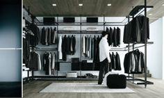 Zenit walk in closet by Rimadesio