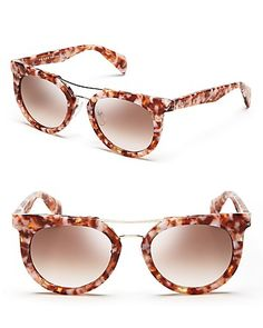 Prada Rounded Cat Eye Sunglasses | Bloomingdale's
