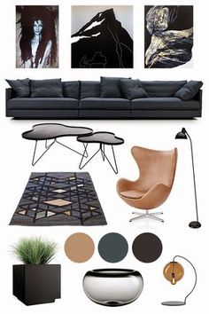 Anette Willemine: Moodboard Interior Trends 2015 - My Interior Design Ideas Furniture Board, Furniture Design, Interior Design Boards, Moodboard Interior Design, Interior Design Presentation, Interior Concept, Concept Board, Mood Boards, Decoration
