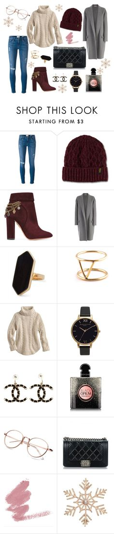 """""""Outfit of the week"""" by sabrina-harth on Polyvore featuring Frame, Dr. Martens, Aquazzura, CÉLINE, Jaeger, SOKO, Olivia Burton, Chanel, Yves Saint Laurent und John Lewis"""
