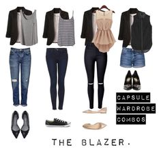 """Capsule wardrobe combos: the blazer"" by xtasherx on Polyvore featuring A.L.C., WithChic, Converse, Pierre Darré, Topshop, 3.1 Phillip Lim and Yves Saint Laurent"