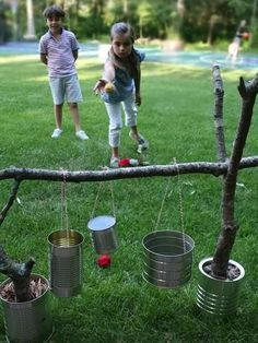 Kids don?t need much to create hours of fun outside. Boredom isn?t necessarily a concept that they come up with, but more than likely something they hear from us. That?s why we?ve assembled these outdoor activities that don?t take piles of tools and hours of effort to set up. Related: Delightful Easter Flower DIY for Your Kids These outdoor activities are right up our alley ? They are all D-I-Y, C-H-E-A-P and F-U-N.