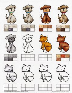 copic colors for fox | My doggies are my favorite!! I like the fox but had a hard time with ...
