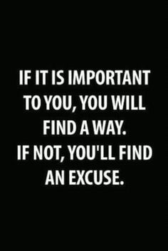 if it is important to you...