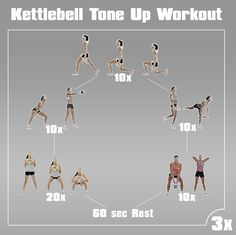 Kettlebell Tone Up workout Tone Up Workouts, Kettlebell Workouts For Women, Kettlebell Routines, Kettlebell Training, Fit Board Workouts, At Home Workouts, Rope Training, 30 Minute Workout, Fit Motivation