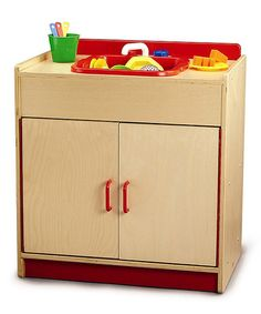 Take a look at this Wooden Play Sink by Whitney Brothers on #zulily today!