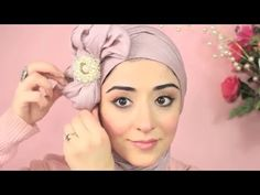 Hijab Tutorial Pretty Bow Turban - From My Ariana Grande Makeup Tutorial - YouTube