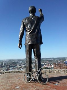 Nelson Mandela statue on Naval Hill, Bloemfontein, South Africa www.SouthAfricanTvAds.com