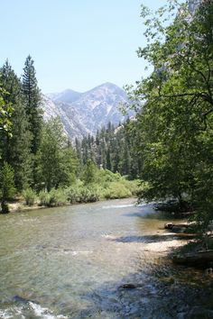 Zumwalt Meadow, Kings Canyon National Park, California -  The Kings River is deep, clear, and fast-moving.
