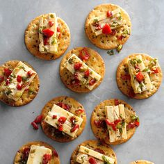 Prep these hand-held finger foods for an appetizer buffet or a light snack with friends. You'll want to make these finger food recipes over and over again. Best Holiday Appetizers, Finger Food Appetizers, Appetizers For Party, Finger Food Recipes, Light Appetizers, Bread Appetizers, Holiday Recipes, Potluck Recipes, Appetizer Recipes