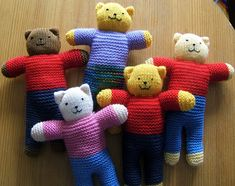 The Ready Teddy Pattern This little teddy is ready to bring comfort and joy to a child in need. As the teddy should be soft and cu. Knitting Bear, Teddy Bear Knitting Pattern, Knitted Doll Patterns, Knitted Teddy Bear, Knitted Dolls, Knitting Patterns, Knitting Toys, Teddy Bears, Cute Crochet